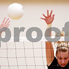 Beck Diefenbach – bdiefenbach@daily-chronicle.com<br /> <br /> Kaneland's Katy Dudzinski (2) attempts to block a shot during the second game against Sycamore at Kaneland High School in Maple Park, Ill., on Tuesday Sept. 21, 2010.