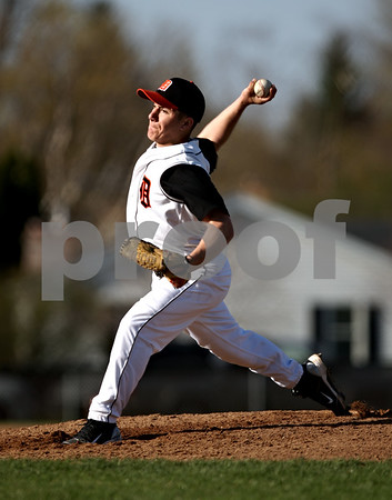 Beck Diefenbach  -  bdiefenbach@daily-chronicle.com<br /> <br /> DeKalb pitcher Jake Lemay (1) throws the ball during the second inning of the game against Sycamore at DeKalb High School in DeKalb, Ill., on Friday April 9, 2010.