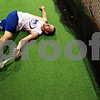 Beck Diefenbach  -  bdiefenbach@daily-chronicle.com<br /> <br /> Will Poterek stretches following his training at Athletic Republic in Dekalb, Ill., on Thursday July 15, 2010.