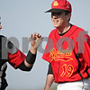 Beck Diefenbach  -  bdiefenbach@daily-chronicle.com<br /> <br /> Batavia catcher Jay Clark (24, left) congratulates pitcher Matt Taylor (19) following the second inning of the game against Sycamore at Sycamore Park in Sycamore, Ill., on Wednesday April 21, 2010. Batavia defeated Sycamore 4 to 2.