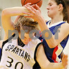 Beck Diefenbach  -  bdiefenbach@daily-chronicle.com<br /> <br /> Sycamore's Jessica Pluhm (30. bottom left) loses the ball to Glenbard South's Brooke Ratay (44) during the first quarter of the game at Sycamore High School in Sycamore, Ill., on Tuesday Feb. 2, 2010.
