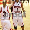 Beck Diefenbach  -  bdiefenbach@daily-chronicle.com<br /> <br /> Northern Illinois' Terriel Cannon (1) is congratulated by Kylie York (3) after she is fouled during the second half of the game against Central Michigan at the NIU Convocation Center in DeKalb, Ill., on Wednesday Jan. 20, 2010