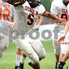 Beck Diefenbach - bdiefenbach@daily-chronicle.com<br /> <br /> DeKalb's Spencer Blank-Jones during a scrimmage at DeKalb High School in DeKalb, Ill., on Friday Aug. 20, 2010.