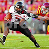 Beck Diefenbach  -  bdiefenbach@daily-chronicle.com<br /> <br /> Northern Illinois quarterback DeMarcus Grady (3) gets taken down by Iowa State linebacker A.J. Klein (47) during the first quarter of the game at Jack Trice Stadium on the campus of Iowa State University in Ames, Iowa, on Thursday Sept. 2, 2010. Iowa State defeated Northern Illinois 27 to 10.