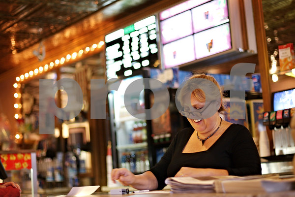 Beck Diefenbach – bdiefenbach@daily-chronicle.com<br /> <br /> Owner Daryl Hopper attends the front desk at the State Street Theater in Sycamore, Ill., on Wednesday Sept. 15, 2010. The State Street Theater is turning 85 years old.