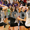 Rob Winner – rwinner@daily-chronicle.com<br /> <br /> Kaneland's Jessica Lubic (9) reacts during the second game against Hampshire in Maple Park, Ill. on Thursday October 28, 2010. Hampshire went on to defeat Kaneland in three games.