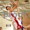 Beck Diefenbach  -  bdiefenbach@daily-chronicle.com<br /> <br /> Indian Creek's Eddie Soler (50) shoots the ball during the first quarter of the Little Ten Tournament first round game against Paw Paw at Somonaulk High School in Somonaulk, Ill., on Monday Feb. 1, 2010.