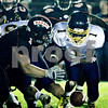Rob Winner – rwinner@daily-chronicle.com<br /> <br /> Sterling running back Corey Hartz fumbles within the red zone during the start of the second quarter in DeKalb, Ill. on Friday September 17, 2010. The Barbs were able to recover the fumble for a turnover.