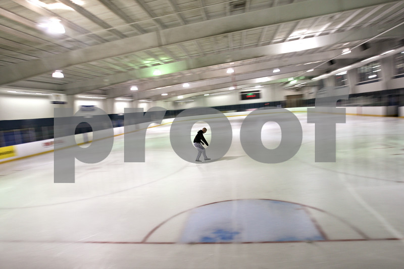Beck Diefenbach – bdiefenbach@daily-chornicle.com<br /> <br /> Kevin Ballantine roams the rink alone at All Seasons Ice Rink in Aurora, Ill., on March 29, 2009. In a week, Kevin will check into the University of Chicago Medical Center for his bone marrow transplant followed by months of observation at the hospital.