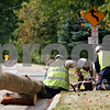Beck Diefenbach – bdiefenbach@daily-chronicle.com<br /> <br /> ComEd employees work on a down power line on Gurler Street between Pearl Street and Hickory Street in DeKalb, Ill., on Wednesday Sept. 15, 2010.