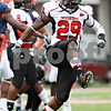 Rob Winner – rwinner@daily-chronicle.com<br /> <br /> Northern Illinois linebacker Jordan Delegal celebrates a strong defensive play in the first half of their game in Champaign, Ill.  on Saturday September 18, 2010.