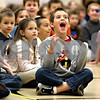 Rob Winner – rwinner@daily-chronicle.com<br /> <br /> Kindergartner Rik Kozumplik reacts during a perfomance of FoodPlay at Southeast Elementary School in Sycamore, Ill. on Wednesday April 7, 2010.<br /> <br /> *Rik Kozumplik (cq)