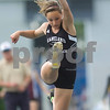 Kaneland's Brittany Paterson triple jumps Friday at the Class 2A State Track Meet in Charleston.