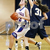 Rob Winner – rwinner@daily-chronicle.com<br /> <br /> During the second quarter, Hinckley-Big Rock's Katie Hollis goes to the basket in Somonauk, Ill. on Monday November 15, 2010.