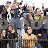 Wendy Kemp - For The Chronicle<br /> <br /> Kaneland fans cheer for their team during Saturday's playoff game against Vernon Hills High School.