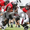 Rob Winner – rwinner@daily-chronicle.com<br /> <br /> Northern Illinois running back Chad Spann carries the ball past the goal line for his third touchdown of the day during the fourth quarter in DeKalb, Ill. on Saturday October 23, 2010. DeKalb went on to defeat Central Michigan, 33-7.