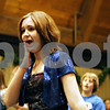 "Rob Winner – rwinner@daily-chronicle.com<br /> <br /> Erin Laino, 14 of DeKalb, practices a scene from ""Thoroughly Modern Millie"" with fellow cast members during rehearsal at Westminster Presbyterian Church in DeKalb on Monday night."