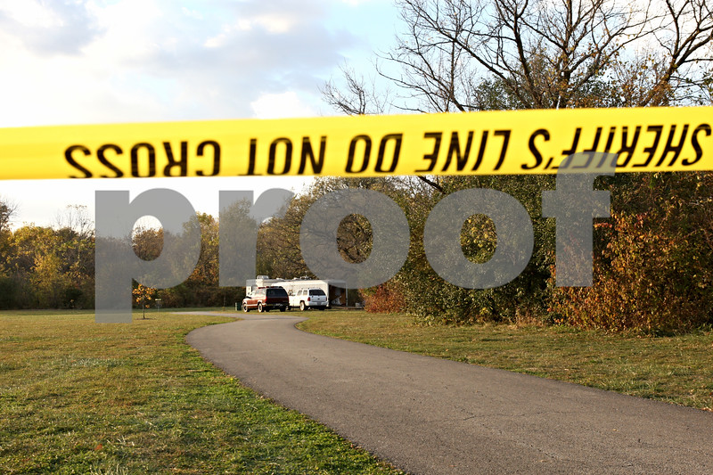 Rob Winner – rwinner@daily-chronicle.com<br /> <br /> The mobile command center is set up in Prairie Park near the pedestrian bridge in DeKalb, Ill. The Prairie Park is one area investigators are searching as part of their investigation into missing NIU student Antinette Keller.
