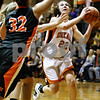 Rob Winner – rwinner@daily-chronicle.com<br /> <br /> DeKalb's Emily Bemis takes a shot in the second quarter on Tuesday November 16, 2010 in DeKalb, Ill.