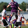 Beck Diefenbach  -  bdiefenbach@daily-chronicle.com<br /> <br /> Paw Paw's Brandon Safranek (7) leaps to head the ball during the first half of the game against Indian Creek at Waterman middle School in Waterman, Ill., on Thursday Aug. 26, 2010. Indian Creek defeated Paw Paw 6 to 2.