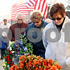 Rob Winner – rwinner@daily-chronicle.com<br /> <br /> (From right to left) Sandra Davis, Mary Drake and Jug Johnson bow their heads for a prayer during the VietNow 25th annual 24-Hour Vigil in front of the DeKalb County Courthouse in Sycamore, Ill. on Friday November 5, 2010.