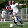 Rob Winner – rwinner@daily-chronicle.com<br /> <br /> Saint Viator's Katelyn Hammarlund (left) and Sycamore's Briana Henke battle for possession during the first half of the IHSA Class 2A Barrington Super-Sectional on Tuesday June 1, 2010 in Barrington, Ill. Saint Viator defeated Sycamore, 3-0.