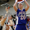 Rob Winner – rwinner@daily-chronicle.com<br /> Jenna Thorp takes a shot to give Hinckley-Big Rock their first two points of Thursday night's sectional game against Elgin Academy at Mooseheart. Hinckley-Big Rock defeated Elgin Academy, 62-35.