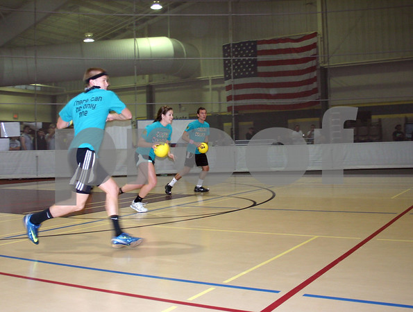 The Cosmic Cowboys was one of about 60 teams that participated in Saturday's fifth annual Charity Dodgeball Tournament, which benefits the Ben Gordon Center in DeKalb.<br /> <br /> Nicole Weskerna nweskerna@daily-chronicle.com