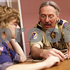Beck Diefenbach  -  bdiefenbach@daily-chronicle.com<br /> <br /> Tom Hohmann, right, teaches Nick McKay how to tie a square knot during Troop 2810's first meeting at Salem Lutheran Church in Sycamore, Ill., on Monday Feb. 8, 2010.