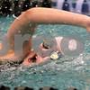 Kyle Bursaw – kbursaw@daily-chronicle.com<br /> <br /> Kaneland's Melissa Cherry swims the 200 freestyle at St. Charles North High School on Nov. 13, 2010.