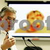 "Rob Winner – rwinner@daily-chronicle.com<br /> <br /> DeKalb Police Chief Bill Feithen answers a reporter's question during a press conference in DeKalb, Ill. on Friday October 29, 2010. 34-year-old William ""Billy"" P. Curl, of the 500 block of East Taylor Street, has been charged with five counts of first-degree murder, criminal sexual assault and arson."
