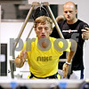 Beck Diefenbach  -  bdiefenbach@daily-chronicle.com<br /> <br /> Nick Anderson, quarterback for University of Wisconsin - Platteville, does back peddling training at Athletic Republic in Dekalb, Ill., on Thursday July 15, 2010.