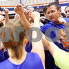 Beck Diefenbach  -  bdiefenbach@daily-chronicle.com<br /> <br /> Genoa-Kingston girls basketball head coach Matt Lauer (right) during practice at G-K High School in Genoa, Ill., on Monday Jan. 4, 2010.