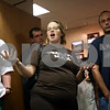 Beck Diefenbach  -  bdiefenbach@daily-chronicle.com<br /> <br /> Gina Regalado, of Cortland, asks if the testing considered young children with developing lungs or with respiratory issues during the DeKalb School Board meeting at the district's administrative offices in DeKalb, Ill., on Thursday July 29, 2010.