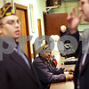 Beck Diefenbach  -  bdiefenbach@daily-chronicle.com<br /> <br /> George Blake, of Rockford, Ill., watches as other members talk from the American Legion's 12th District during a membership luncheon at American Legion Post 99 in Sycamore, Ill., on Friday Jan. 22, 2010.