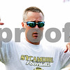 Rob Winner – rwinner@daily-chronicle.com<br /> <br /> Spartans coach Joe Ryan talks to his team between plays during their first practice on Wednesday August 11, 2010 in Sycamore, Ill.