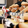 Beck Diefenbach  -  bdiefenbach@daily-chronicle.com<br /> <br /> Northern Illinois' freshman, and former Sycamore High School athlete, Justine Schepler watches video of their recent match during practice at Victor E. Court at the Convocation Center on the campus of Northern Illinois University in DeKalb, Ill., on Monday Aug. 30, 2010.