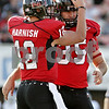 Rob Winner – rwinner@daily-chronicle.com<br /> <br /> Northern Illinois quarterback Chandler Harnish congratulates kicker Michael Cklamovski after a field goal in the third quarter of their game in DeKalb, Ill. on Saturday October 16, 2010.