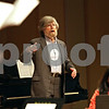 Beck Diefenbach  -  bdiefenbach@daily-chronicle.com<br /> <br /> American composer Morten Lauridsen advises the Northern Illinois University chamber choir during an open rehearsal in the Boutell Memorial Concert Hall in the Music Building on the NIU campus in DeKalb, Ill., on Tuesday Feb. 16, 2010.