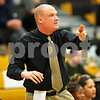 Beck Diefenbach  -  bdiefenbach@daily-chronicle.com<br /> <br /> Sycamore head coach Ryan Picolotti directs his players during the first quarter of the game against Batavia at Sycamore High School in Sycamore, Ill on Tuesday Jan. 5, 2009. Sycamore defeated Batavia 35 to 25.