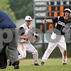 Beck Diefenbach  -  bdiefenbach@daily-chronicle.com<br /> <br /> Kaneland's Jake Fiedler (27, far right) reacts after he is called out at second base on an attempted steal during the fourth inning of the game against DeKalb at DeKalb High School in Dekalb, Ill., on Thursday May 20, 2010.