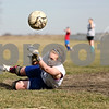 Rob Winner – rwinner@daily-chronicle.com<br /> Hinckley-Big Rock goalie Jessica Leifheit makes a diving block during practice on Tuesday March 16, 2010 in Hinckley, Ill.