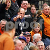 Beck Diefenbach - bdiefenbach@daily-chronicle.com<br /> <br /> Fans boo and point to the scoreboard operator after the clock fails to continue clocking down during the final seconds of the fourth quarter of the IHSA Class 3A Regional championship game at Kaneland High School in Maple Park, Ill., on Friday March 3, 2010.