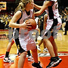 Rob Winner – rwinner@daily-chronicle.com<br /> Sycamore's Jessica Pluhm secures a rebound and teammate Ashley Berlinski celebrates as time expires giving them a victory over DeKalb during the Castle Challenge on Friday January 29, 2010 in DeKalb, Ill.