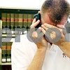 Rob Winner – rwinner@daily-chronicle.com<br /> <br /> Sean McKnight makes a call to a local attorney while doing legal research at the Sycamore Public Library in Sycamore, Ill. on Wednesday August 4, 2010.