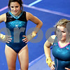 Rob Winner – rwinner@daily-chronicle.com<br /> <br /> Jessica Morreale (left) and Alyssa Lopez wait their turn during tumbling practice at Energym in Sycamore, Ill. on Friday June 25, 2010.