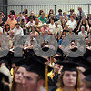 Wendy Kemp/For The Daily Chronicle<br /> Parents gather to watch the graduation ceremony at Sycamore High School on Sunday.<br /> Sycamore 5/30/10
