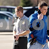 Rob Winner – rwinner@daily-chronicle.com<br /> <br /> NIU student Jake Matekaitis (front), of DeKalb, and IRS Special Agent Jason LeBeau track a suspect during a simulation in the parking lot outside Barsema Hall in DeKalb, Ill. on Friday March 26, 2010. The one-day simulation, called the Adrian Project, introduces students to the life of an IRS Special Agent.