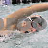 Kyle Bursaw – kbursaw@daily-chronicle.com<br /> <br /> DeKalb's Tara Gidaszewski swims the 200 freestyle at St. Charles North High School on Nov. 13, 2010.