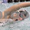Kyle Bursaw – kbursaw@daily-chronicle.com<br /> <br /> DeKalb's Tara Gidaszewski swims the 200 freestyle at St. Charles North High School on Nov. 13, 2010.